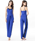 Soft Stretch Sleepwear Cami and Pants Blue