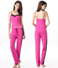 Soft Stretch Sleepwear Cami and Pants Pink