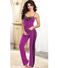 Soft Stretch Sleepwear Cami and Pant Purple
