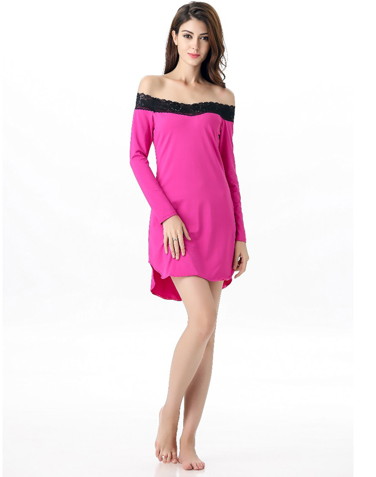 Lace Trimmed Sleep Tunic Pink