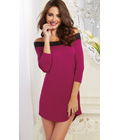 Lace Trimmed Sleep Tunic Purple