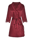 Classic Satin Robe Red