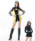 Racing Girls Costume Yellow
