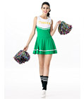 Sexy Cheerleader Costume Green