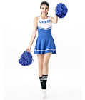 Sexy Cheerleader Costume Blue
