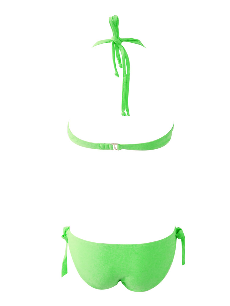 Push-Up Underwired Bikini Suit Green