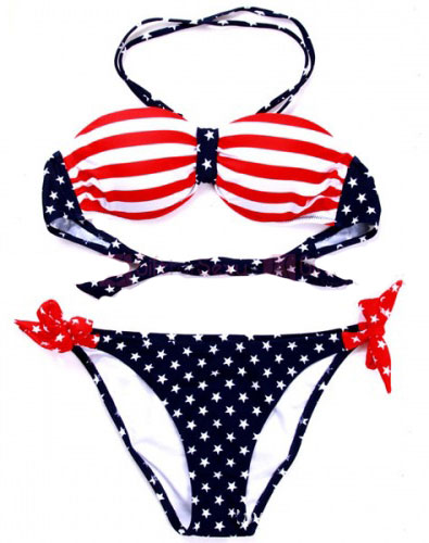 American Flag Stars & Stripes Bikini