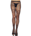 Chandelier Lace and Net Pantyhose