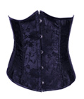Lace Overlay Underbust Corset Black