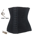 Underbust Waist Training Cincher Black