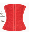 Underbust Waist Training Cincher Red