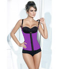Sport Rubber Steel Boned Underbust Corset Purple
