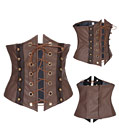 Leather Under-bust Punk Corset