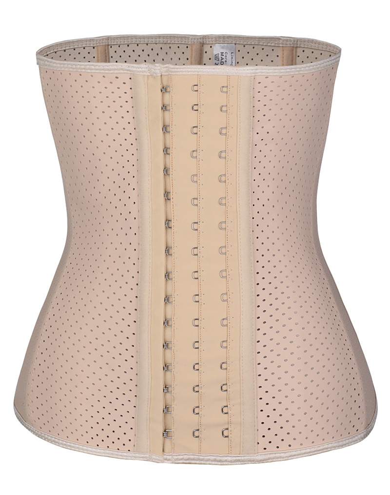 Breathable Latex Waist Trainer Corset Nude