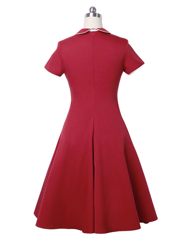 Polo Neck Vintage Business Dress
