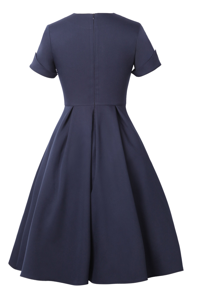Vintage Short Sleeve Rockabilly Dress