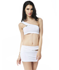 All Zipped Up Two Piece Set White