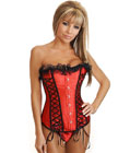 Lace-Up Lover Burlesque Corset Red