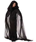 Black Haunted Cape and Dress Costume