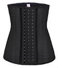 25 Spiral Steel Boned Breathable Latex Waist Trainer Black