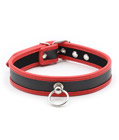 Adjustable PU Leather Choker Collar