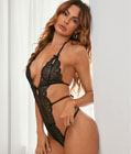 All Night Long Lace Teddy